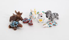 Little cute animal totems from polymer clay by lifedancecreations.deviantart.com on @DeviantArt