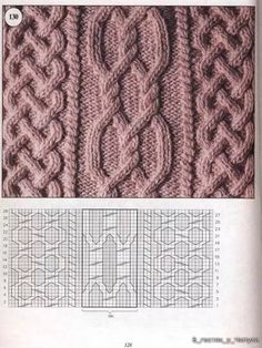 Traditional Aran Knitting Patterns - Crochet and Knit Cable Knitting Patterns, Crochet Baby Hat Patterns, Knitting Stiches, Knitting Charts, Knit Patterns, Free Knitting, Stitch Patterns, Knit Stitches, Baby Patterns