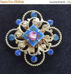 Hey, I found this really awesome Etsy listing at https://www.etsy.com/listing/245018872/mothers-day-sale-pretty-vintage-royal