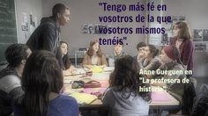 "Profes de película. Anne Gueguen en ""La profesora de historia""."
