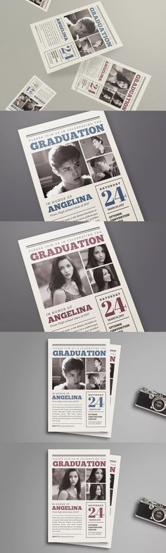 Chalkboard Style Graduation Invitation  Ai Illustrator Font Logo