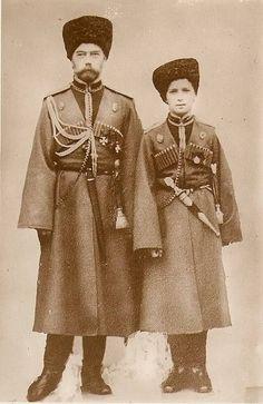Tsar Nicholas II and his son