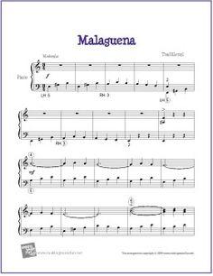 Malaguena | Free Sheet Music for Piano