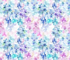 Crib Sheet Watercolor Hydrangeas. Fitted Crib Sheet. Baby