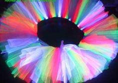 Rainbow Fairy tutu from my neon fairy tutu range at neonfairyfacepainting.co.uk