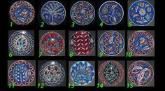 Turkish Ceramic Plate Ottoman Collection Patterned 1 piece Handmade Hand painted Home Decorative Ornament Plate : Styles 1-15 Free Shipping