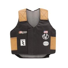 M & F Western Boys' Bull Rider Play Vest 2-10 Years Black Large. Let 'Em Play Rodeo In Our Padded Bull Rider Vest. Accented with real sponsor logos, just like the big cowboys wear. Convenient Velcro adjusts for a just-right fit.