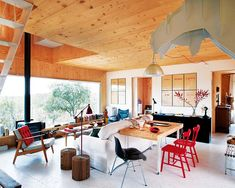 A modern Spanish house in the forest.  http://blog.jelanieshop.com/interior/a-modern-spanish-house-in-the-forest/