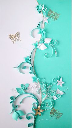 """Unique Original Quilling Art: """"Yin and Yang"""" Paper Art,Free-standing Sparkle frame, Wall Art and Decor"""
