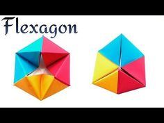 "Action Fun Toy Origami tutorial -  Paper ""Modular Rotating Tetrahedron / Flexagon"" - YouTube"