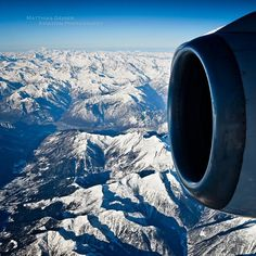 Plane views from my window seat - Crusing over the Alps at 27'000ft enroute ZRH-FLR