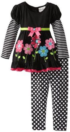 Rare Editions Girls 2-6X Flower Applique Leg Set Toddler - List price: $55.00 Price: $24.99 Saving: $30.01 (55%)