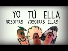 Spanish song to learn Personal pronouns, basic grammar - Learn Spanish f... #spanishlanguagetips