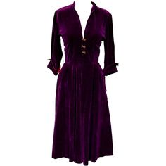 1950s Small Dress Purple Velvet Housewife I Love Lucy Madmen Preppy... ($72) ❤ liked on Polyvore featuring costumes, sexy halloween costumes, christmas costumes, sexy angel costume, sexy witch costume and sexy costumes