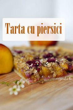 tarta cu #piersici proaspete si #zmeura , #dulciuri #peachtart #reteta Blog, Vegetables, Breakfast, Sweets, Pie, Morning Coffee, Blogging, Vegetable Recipes, Veggies