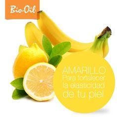 Las frutas de colores amarillos, como el cambur, benefician la elasticidad de la piel #Belleza #Salud #Alimentación