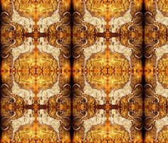 Equestrian gold fabric by nascustomwallcoverings on Spoonflower - custom fabric