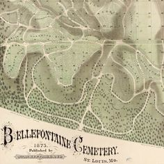 #Map of Bellefontaine #Cemetery, #StLouis (1875) - #STL - http://www.bigmapblog.com/2012/map-of-bellefontaine-cemetery-st-louis-1875/