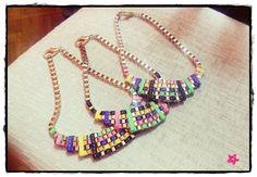#collares #dorado #colores