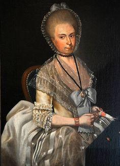 Hiltje Schaaf (1766-1790) op 19-jarige leeftijd geschilderd door Vincenzo la Barbiera, een verder onbekend gebleven schilder die in hetzelfde jaar nog twee schilderijen maakte van Harlinger regenten.* Het schilderij, olieverf op doek (afm. h 100 x br 73,5 cm), is aan de achterzijde gesigneerd 'VINCENZO LA BARBIERA' en gedateerd '23 Juni 1785'.