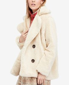 Free People Teddy Faux-Fur Peacoat | macys.com