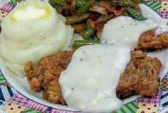 CHICKEN FRIED DEER STEAK.  This meal!! .... is good for my soul <3