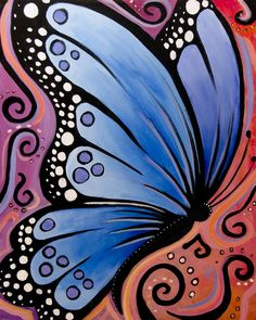 Whimsical Butterfly Art | Whimsical Butterfly -- Family Paint Session