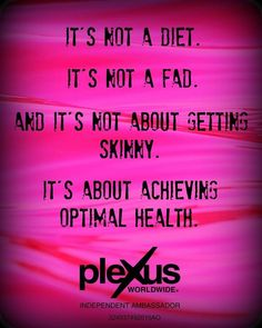 Click on the link and follow Plexus Of The Ozarks for testimonies, health tips and company facts and why I represent these products.