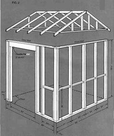 shed building plans elevation #DIYShed8x8