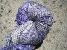 Sock Yarn  Hand Dyed Superwash BFL  Silver Fox by GraceandFiber, $19.75