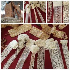 Pizzi trine merletti- collezione - Laces- la camelia collezioni