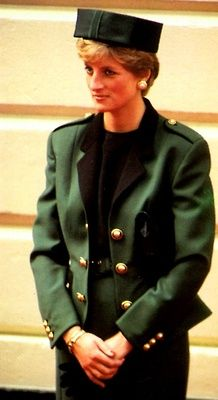Diana, Princess of Wales visiting the Prague War Cemetery during a trip to Czechoslovakia on May 9, 1991.