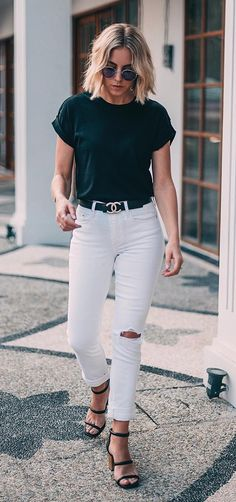 Musa do estilo: Lian Galliard - Guita Moda Casual Chic, Style Casual, Casual Looks, Style Désinvolte Chic, Look Chic, Classy Outfits, Chic Outfits, Fashion Outfits, Womens Fashion