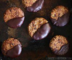 dark chocolate quinoa cookies.