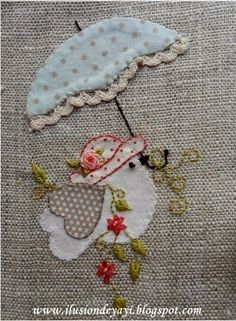 Embroidery and applique Hand Applique, Wool Applique, Applique Patterns, Applique Quilts, Applique Designs, Quilt Patterns, Embroidery Designs, Embroidery Applique, Cross Stitch Embroidery