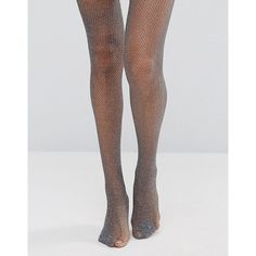 Gipsy Glitter Fishnet Tights (8.48 AUD) ❤ liked on Polyvore featuring intimates, hosiery, tights, silver, sheer glitter tights, glitter hosiery, gipsy tights, metallic tights and gipsy