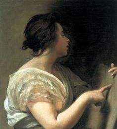 """Sibila con tábula rasa (Sibyl with Tabula Rasa), ca. 1648.Diego Velázquez (Spanish. Baroque, 1599-1660). Oil on canvas. SMU, Dallas.  Tabula rasa (Latin for """"scraped tablet"""") is an epistemological thesis developed by the English philosopher John Locke in his Essay Concerning Human Understanding, 1690. The theory of tabula rasa dated back to Aristotle, Compared to a blank sheet. As a human being is at birth, without training, personality, knowledge, their mind has nothing, like a blank…"""