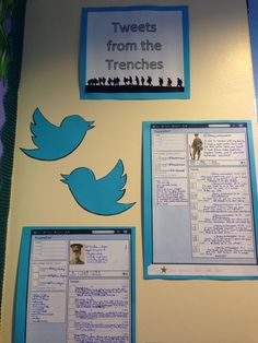 Tweets from the trenches - World War One diary entry exercise. #English #EnglishLiterature #WorldWarOne #Classroom #ClassroomIdeas #Displays School Displays, Classroom Displays, Classroom Ideas, 5th Grade Social Studies, Social Studies Classroom, History Class, Teaching History, Weather Display, Christmas Truce