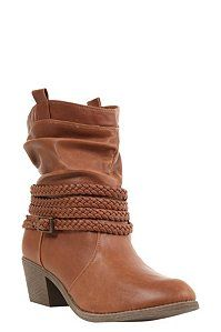 Tan Norma Ankle Western Boots (Wide Width) | Shoes