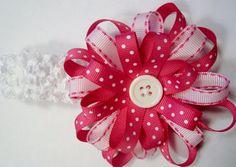 Hair bow headband