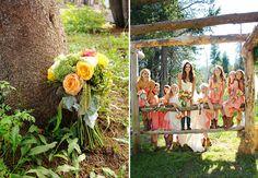 love those bridesmaid's dresses