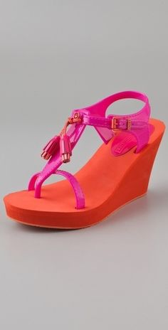 Juicy Couture Lily Wedge Sandals - not usually a style of anything juicy..but cute for vaca
