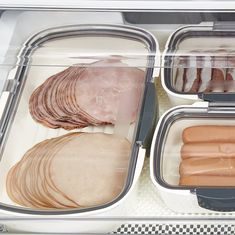 Our innovative mini deli container keeps your favorites fresh and ready to serve. Its clear lid features an air-tight si Freezer Organization, Refrigerator Organization, Kitchen Organization, Organizing, Fridge Storage, Shop Storage, Rv Storage, Organization Ideas, Storage Ideas