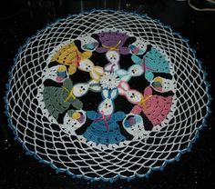 Crochet Easter Bunny And Basket of Eggs Doily Pattern. $4.95, via Etsy.
