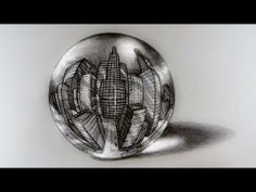 Fantastic 3-D Illusion - City in a Crystal Ball using 5-Point Perspective - YouTube