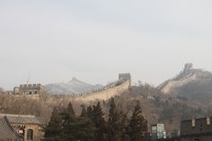 {1-4-14} The start of our journey up the Great Wall... We had to climb over 160 flights of stairs that were extremely steep & go through 8 look-out towers.