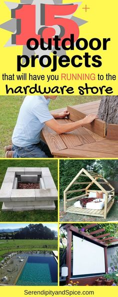 DIY outdoor projects that are amazing and will make your summer epic! DIY Crafts Do It Yourself Backyard Ideas Yard Projects