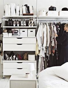 organized closet area