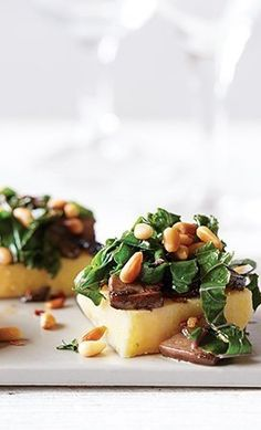 Spicy Kale with Polenta made in the Vitamix blender Vitamix Recipes, Blender Recipes, Vitamix Blender, Fall Recipes, Great Recipes, Dinner Recipes, Dinner Ideas, Polenta Recipes, Kale