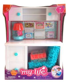 Doll House With Desk Drawers And Cabinets Girls' Accessories Set 2 Sticker Sheet Our Generation Doll Accessories, My Life Doll Accessories, American Girl Accessories, Our Generation Dolls, Girls Accessories, American Girl Doll Room, American Girl Furniture, American Girl Crafts, Barbie Sets